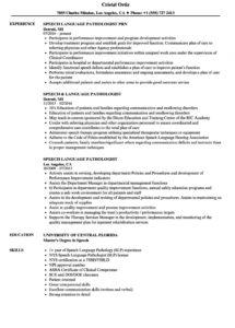 speech language pathologist resume samples  velvet jobs speech therapy contract template