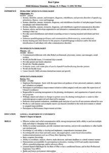 speech pathologist resume samples  velvet jobs speech therapy contract template