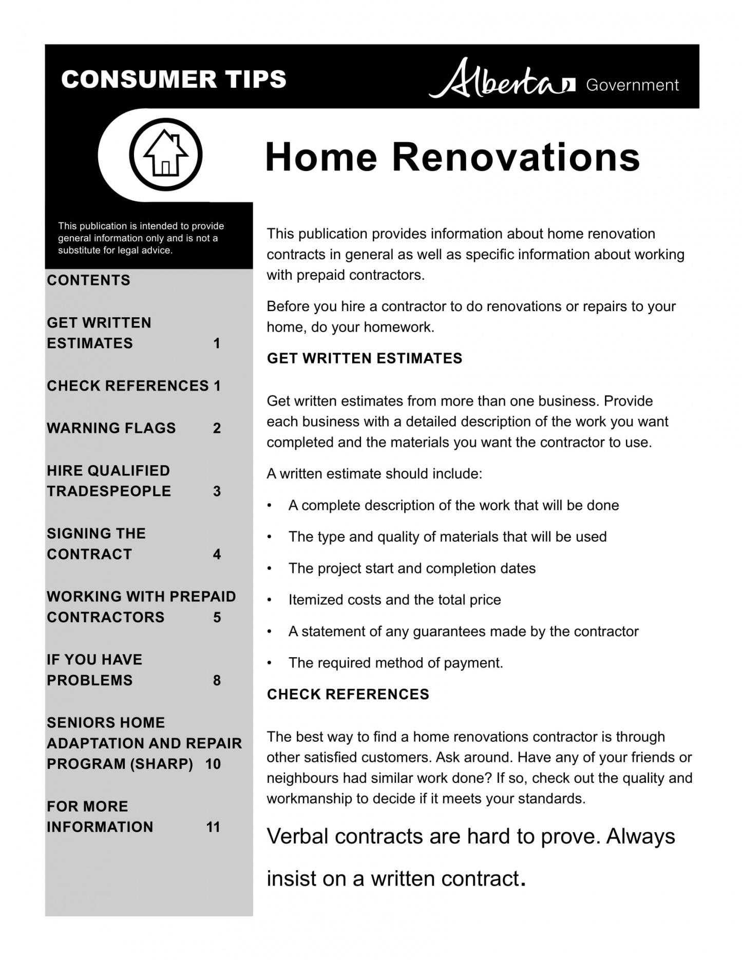 this is the 10+ bathroom renovation contract template examples  pdf word home renovation contract template