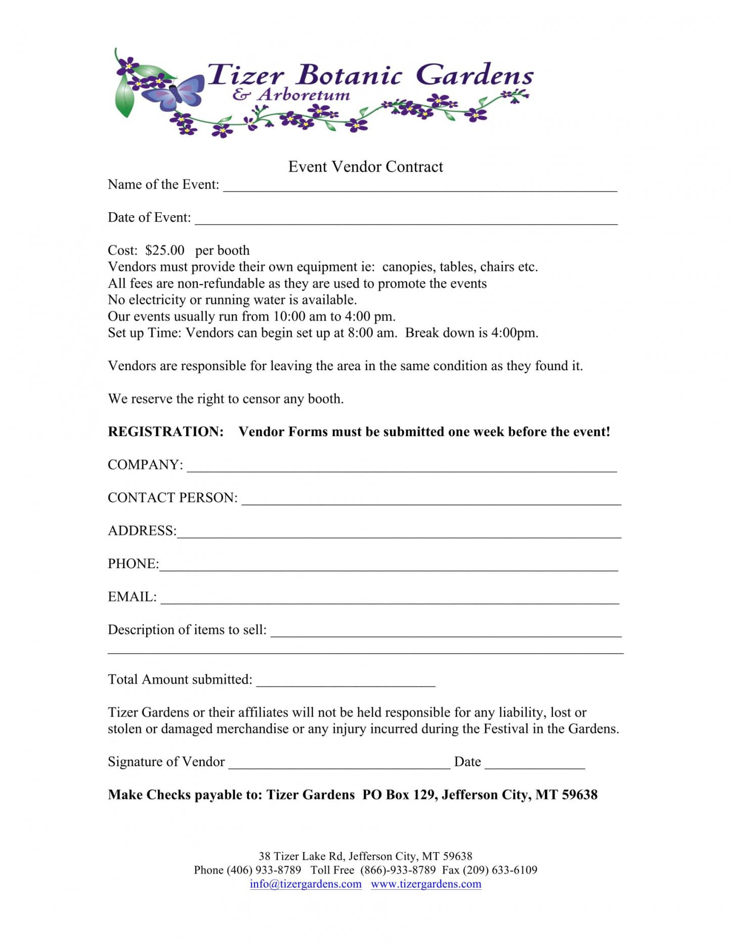 This is the 10+ Event Vendor Registration Form Free Word ...