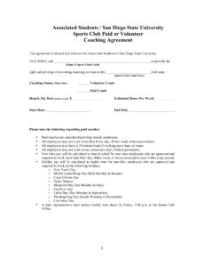 this is the 13+ sports coach contract example templates  docs, word  examples sports coaching contract template