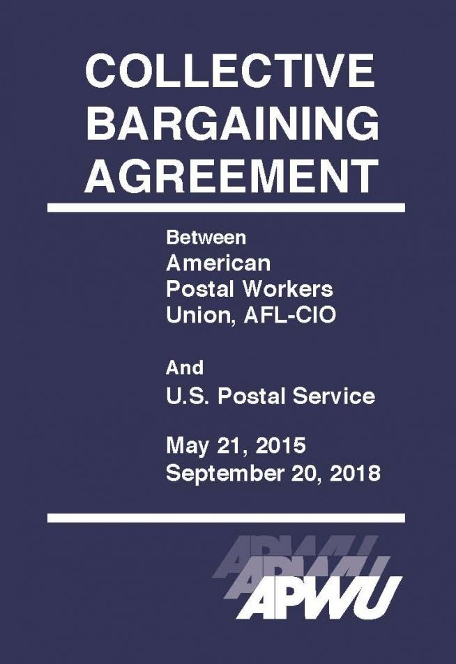 this is the 20152018 contract available to order  apwu collective bargaining agreement sample contract