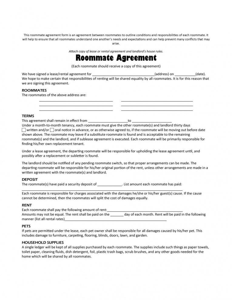 this is the 40+ free roommate agreement templates & forms (word, pdf) room rental agreement contract