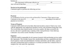 this is the 50+ free independent contractor agreement forms & templates client contract agreement sample