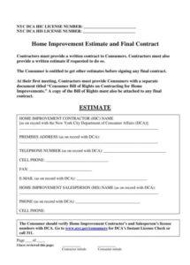 this is the 7+ home repair contract templates  docs, word, pages  free home repair contract template