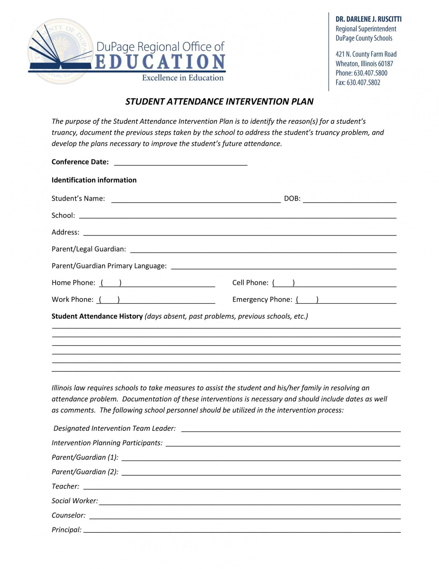 this is the 9+ student attendance contract template examples  pdf  examples student attendance contract template