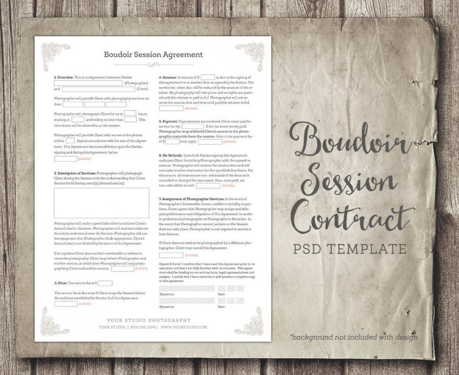 this is the boudoir session client agreement form template business form  etsy boudoir photography contract template