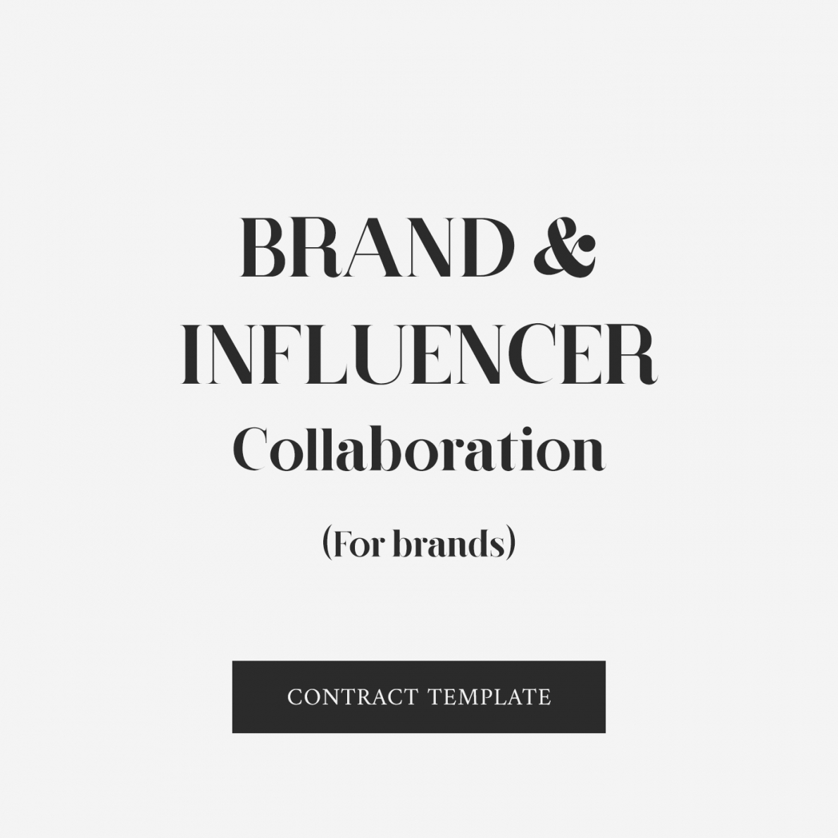 this is the brand & influencer marketing agreement  zara watson law influencer agreement contract template