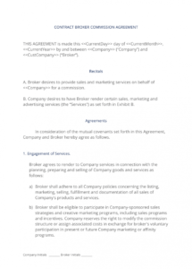 this is the broker commission sales agreement  3 easy steps agent commission agreement template