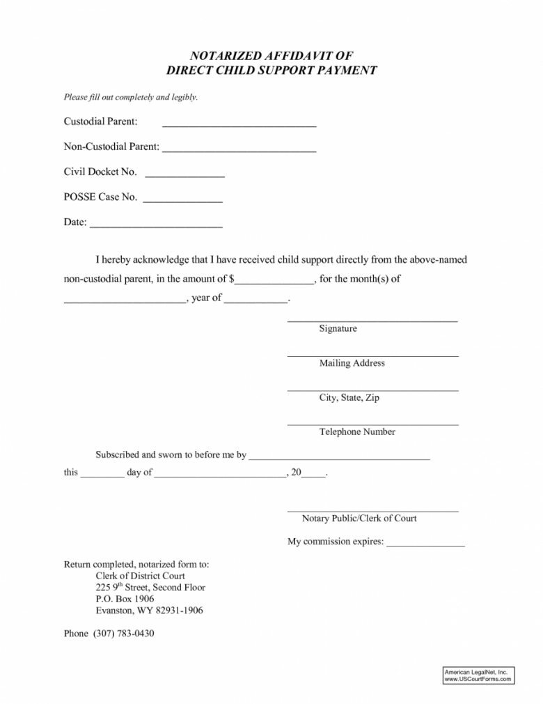 This Is The Child Support Letter Agreement Pdf Texas Notarized Examples No