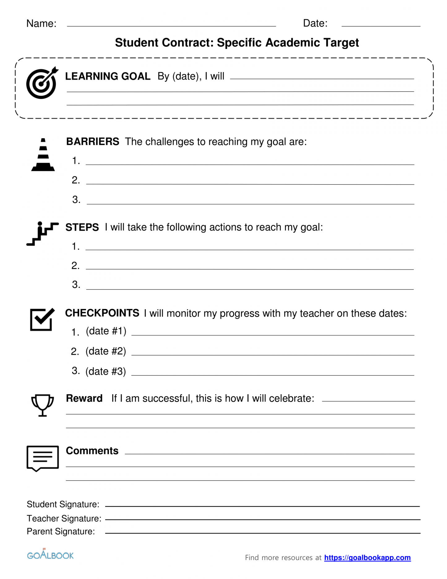 this is the contracts  udl strategies student academic contract template