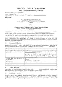 this is the director loanout agreement for dga members  legal forms and film director contract template