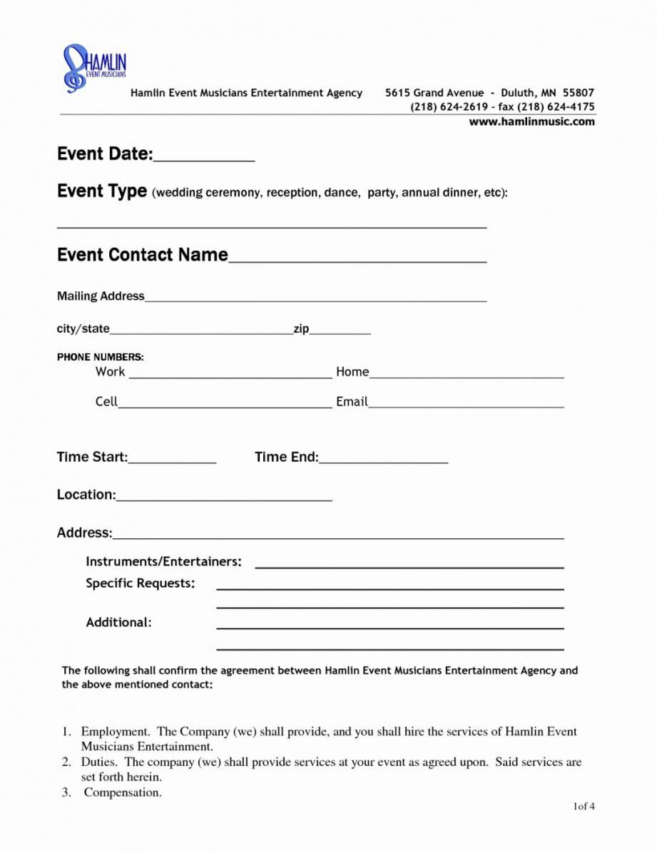 This Is The Event Space Rental Agreement Template