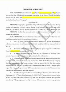 this is the franchise license agreement template  lostranquillos franchise license agreement sample