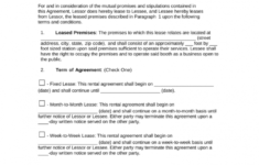 this is the free booth (salon) rental lease agreement  pdf  word  eforms barber contract agreement