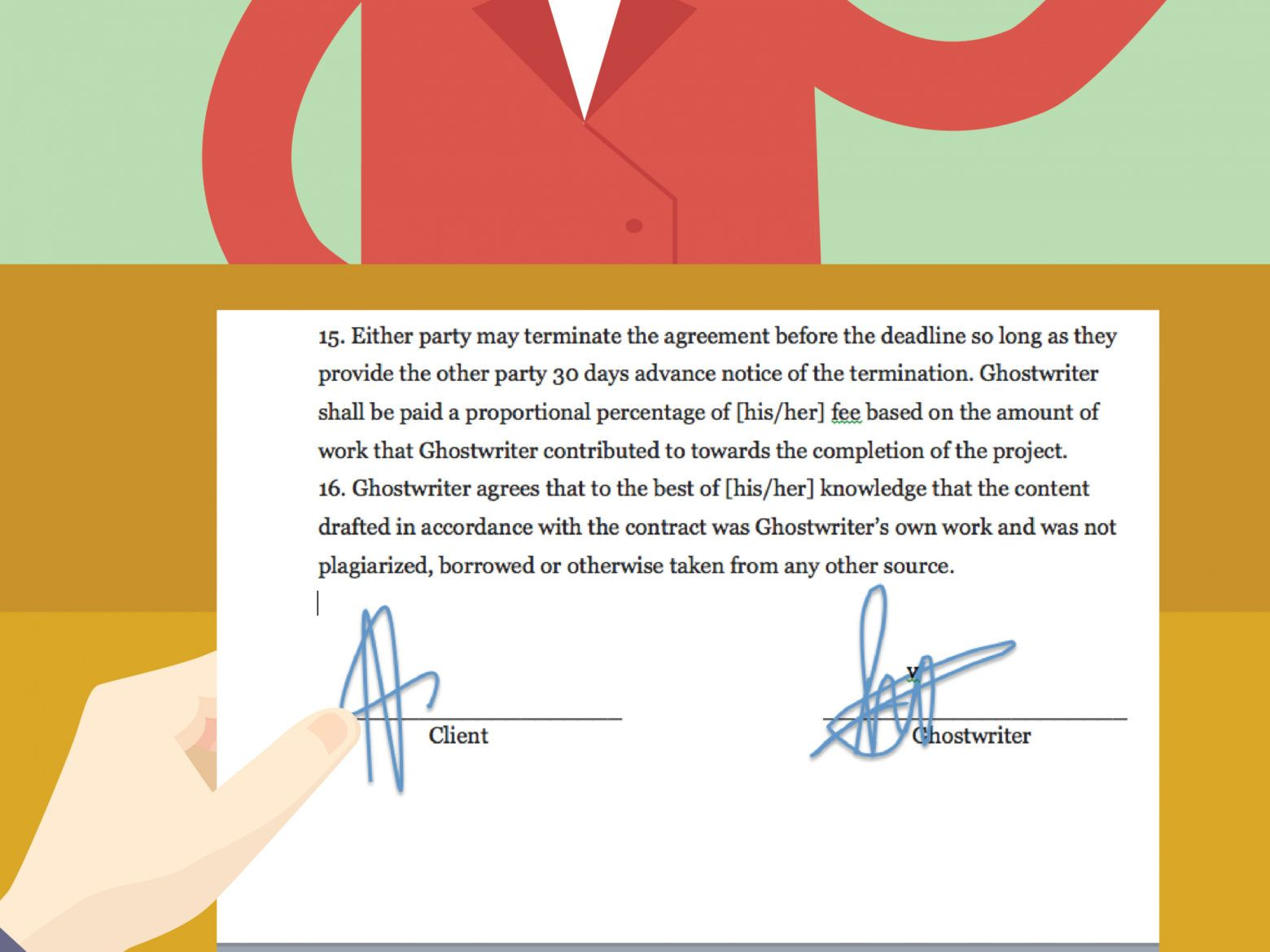 this is the how to draft a ghostwriting agreement: 13 steps (with pictures) ghostwriter agreement contract