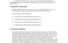 this is the partnership dissolution agreement : notification of problem partnership dissolution agreement template