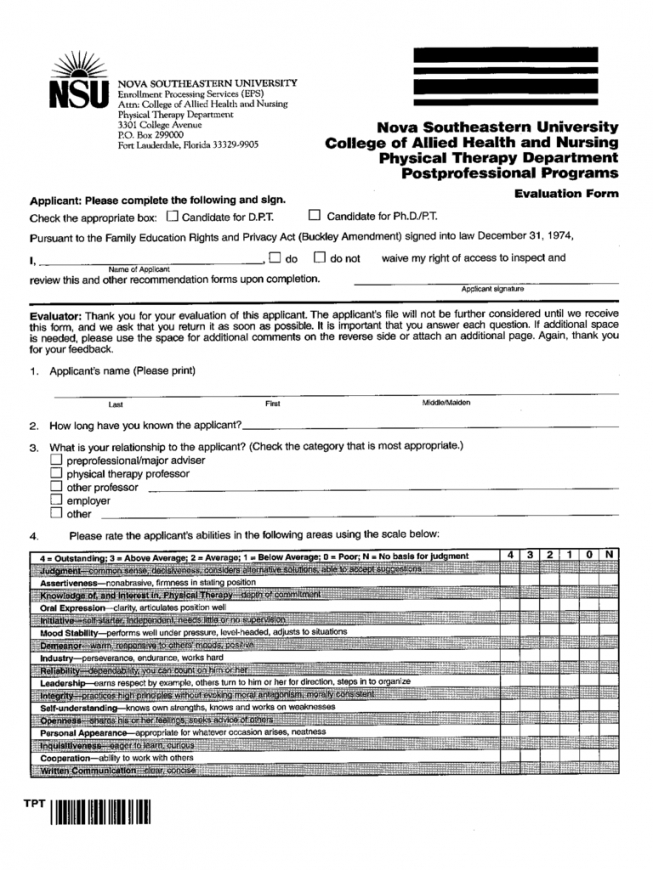 this is the physical therapy evaluation form  2 free templates in pdf, word physical therapy contract template