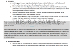 this is the producer contract for working with a signed artist band management contract template