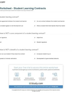 this is the quiz & worksheet  student learning contracts  study student learning contract template