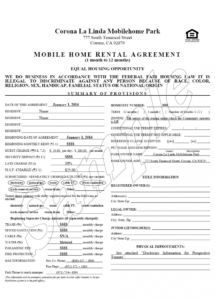 this is the sample trailer rental agreement free download rv park rental rv park rental agreement contract