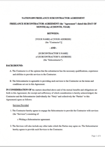 this is the the freelance contract: how to write an effective statement of work freelance worker contract template