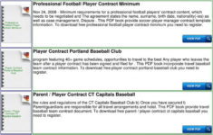 this is the travel softball player contract  pdf sports player contract template