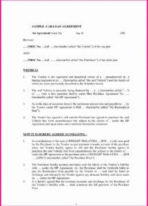 this is the vehicle loan agreement template  lostranquillos car financing contract template