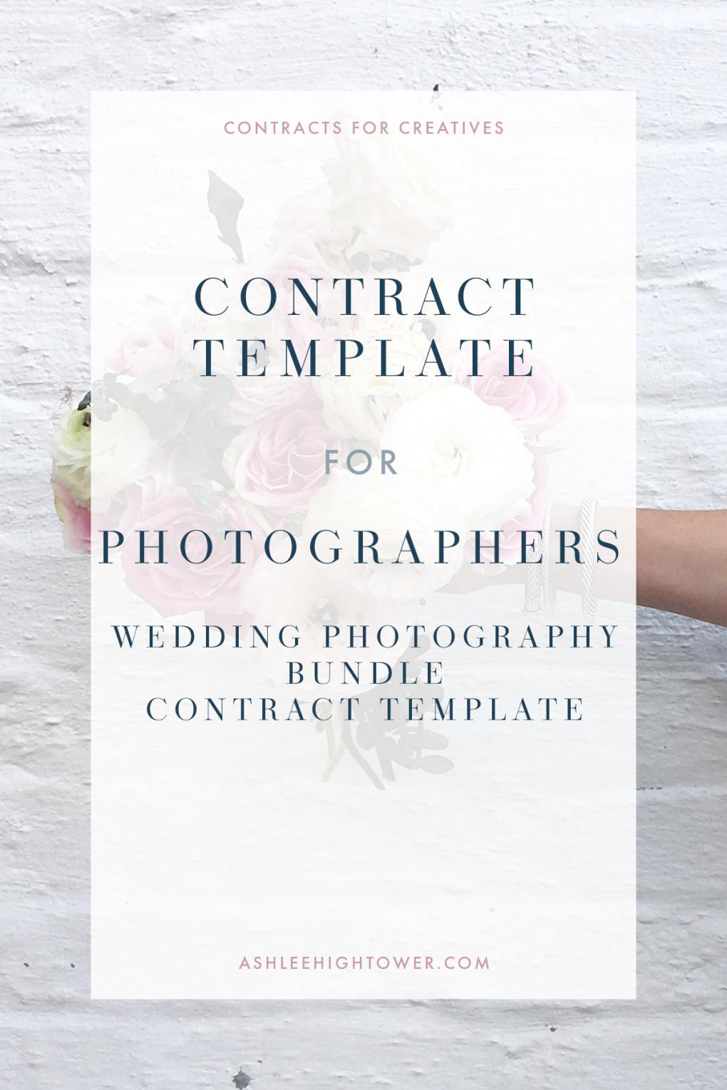 wedding photography bundle  photographer contracts  ashlee hightower engagement photography contract template
