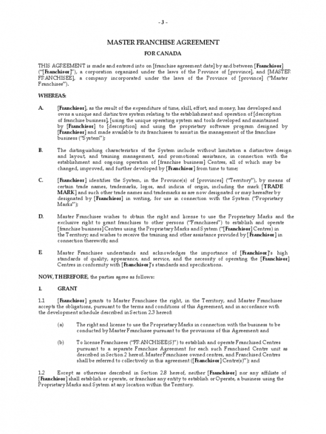 2019 franchise agreement template  fillable, printable pdf & forms business franchise agreement sample