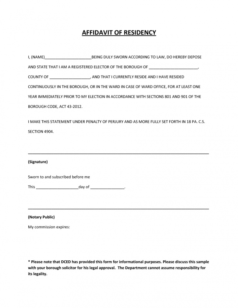 36 proof of residency letters (from family member / landlord proof of residency letter template