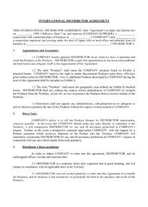 9+ distributorship agreement contract forms  pdf, doc distributorship contract agreement