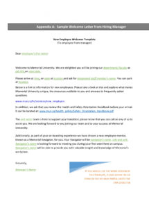 9+ new hire welcome letter examples  pdf  examples new employee welcome letter sample template doc