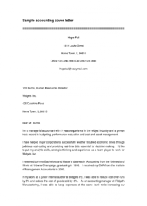 blankaccountingcoverlettertemplatesample accountant cover letter template doc