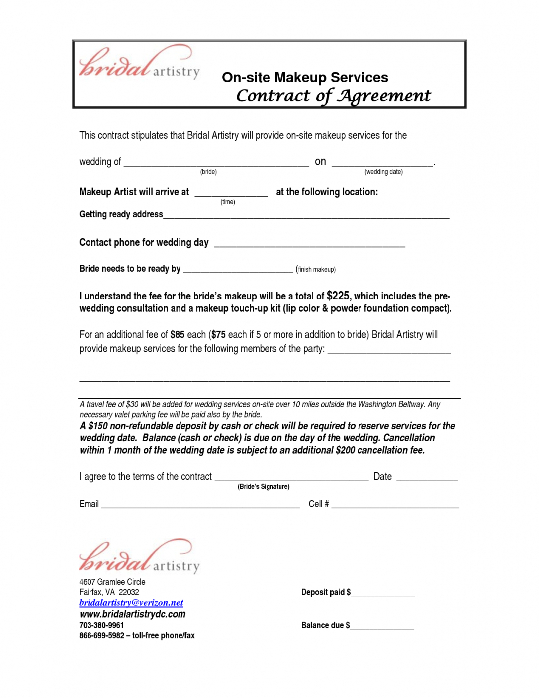 bridalhaircotract  site makeup services contract agreement this mess contract agreement