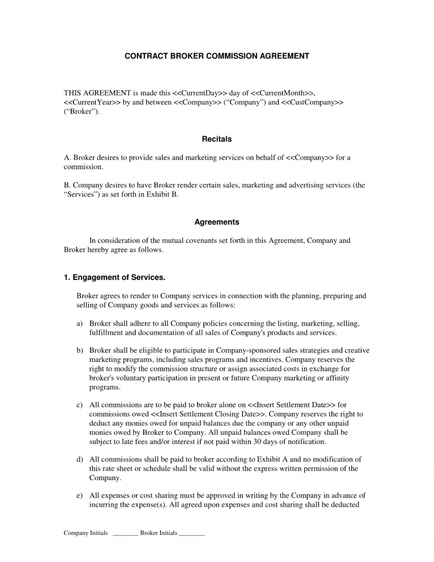 broker commission sales agreement : advertising and marketing commission sales contract template