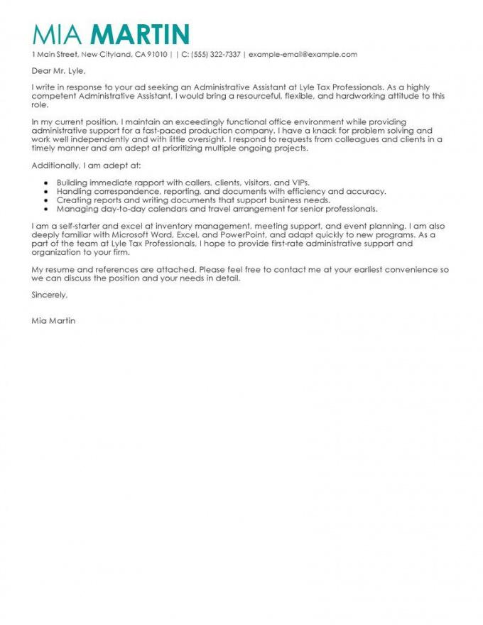 cover letter template for administrative assistant  1cover letter administrative assistant cover letter template sample