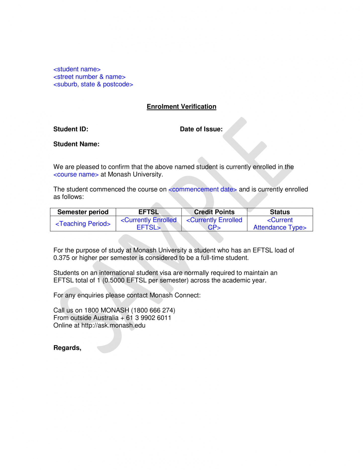 editable 29+ verification letter examples  pdf  examples proof of school enrollment letter template doc