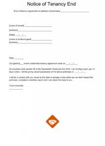 editable end of tenancy letter templates tenancy notice letter template doc