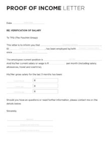 free 40+ income verification letter samples (& proof of income letters) proof of salary letter template