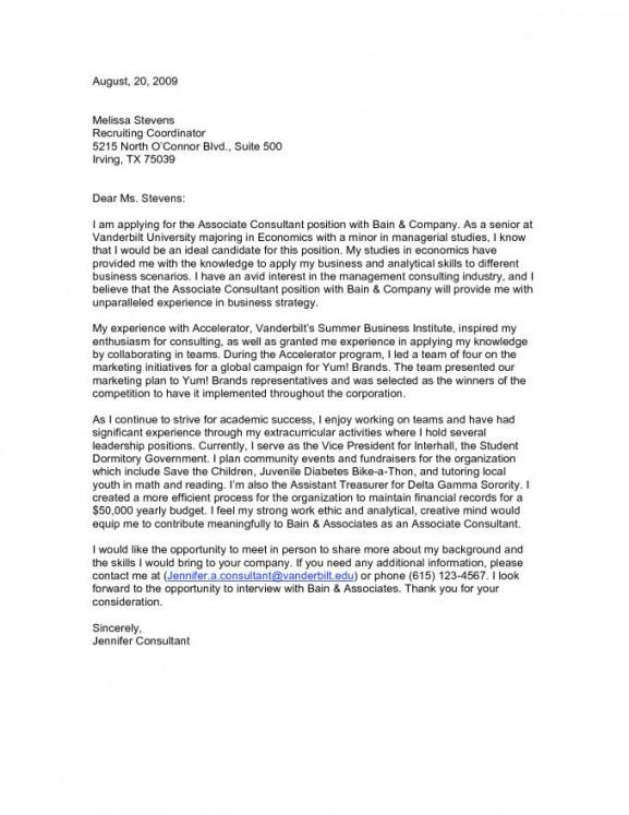 Free Consulting Internship Cover Letters Mokkaibmdatamanagementco Consultant Letter Template