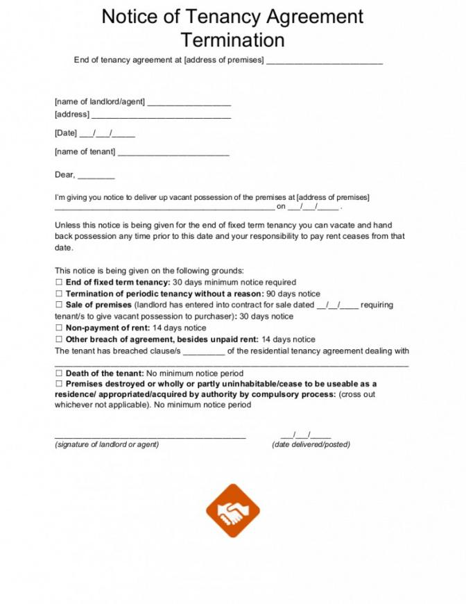 free end of tenancy letter templates tenancy notice letter template pdf