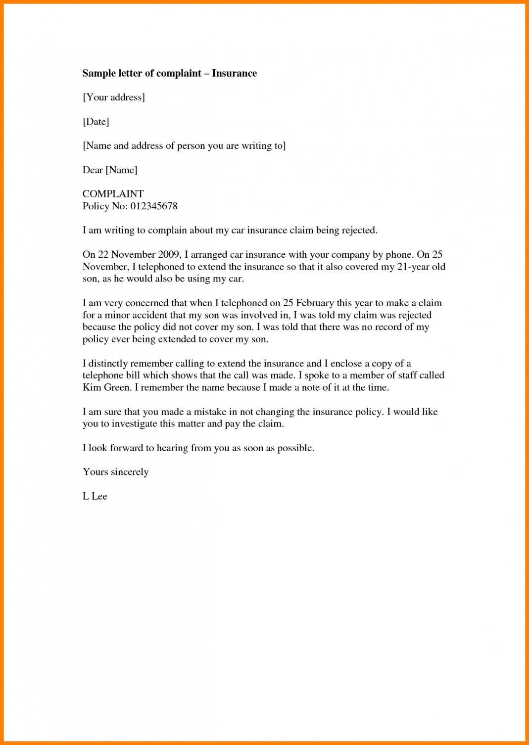 free life insurance no medical  insurance travel insurance claim letter template