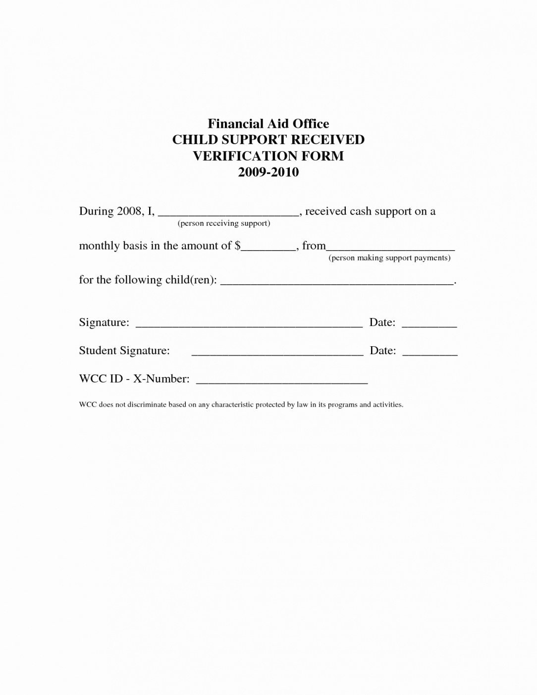 free proof of child support letter template collection  letter template proof of child support letter template