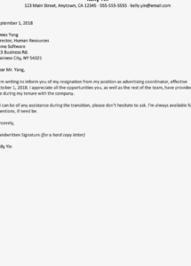 free resignation letter templates generic resignation letter template