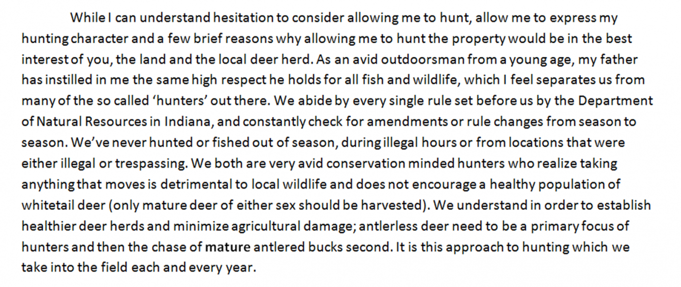 "free small acre hunting: writing a ""can i hunt letter"" hunting permission letter template pdf"