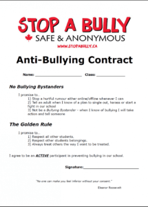 here the antibullying contract (fun and interesting idea to make students student council contract template