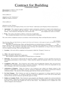 here the contract for building and repair free download home repair contract agreement