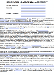 here the free california standard residential lease agreement template  pdf spanish rental agreement template