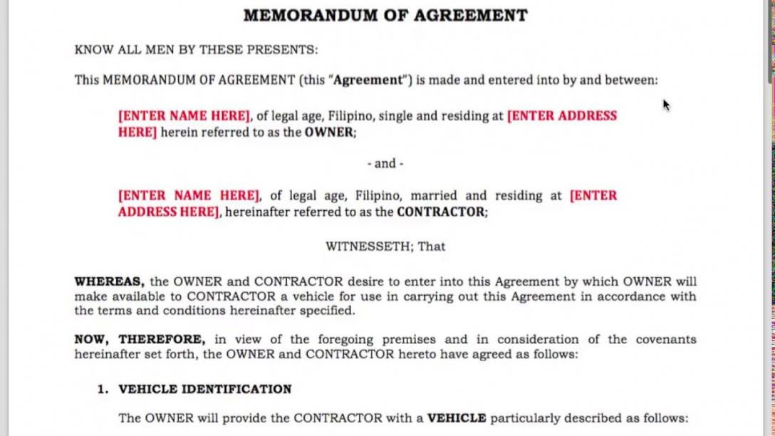 Here The Grab Uber Driver Contract Template For Ph Drivers